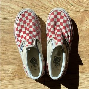 Kids Checkered Vans sz 1